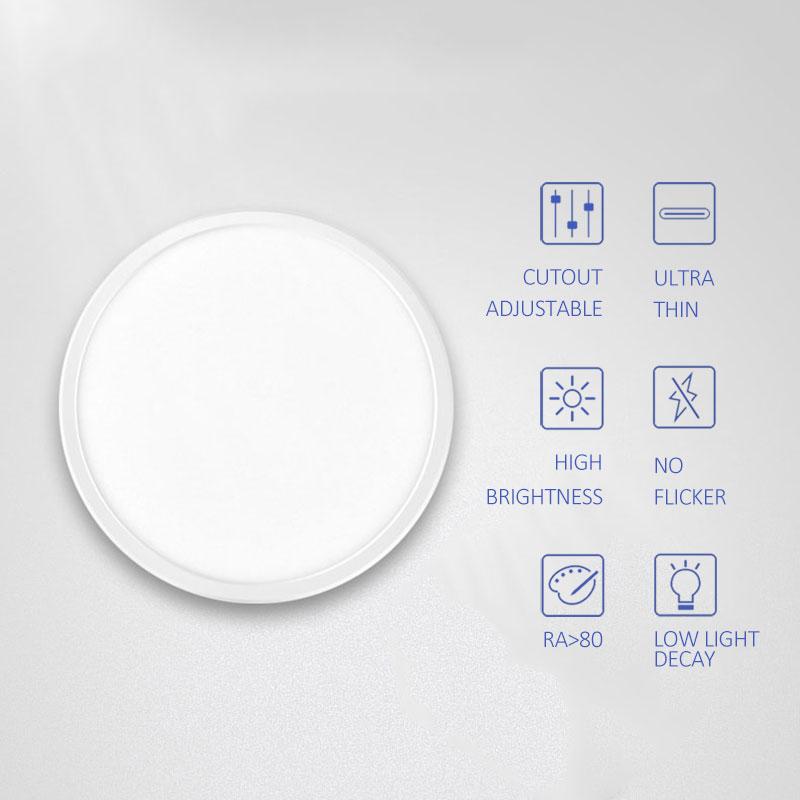 1p супер Яркость AC220V светодиодный Панель свет светодиодный потолочный светильник круглый ультра тонкий светодиодный светильник круглый Панель огни 6 Вт 15 Вт Панель лампа