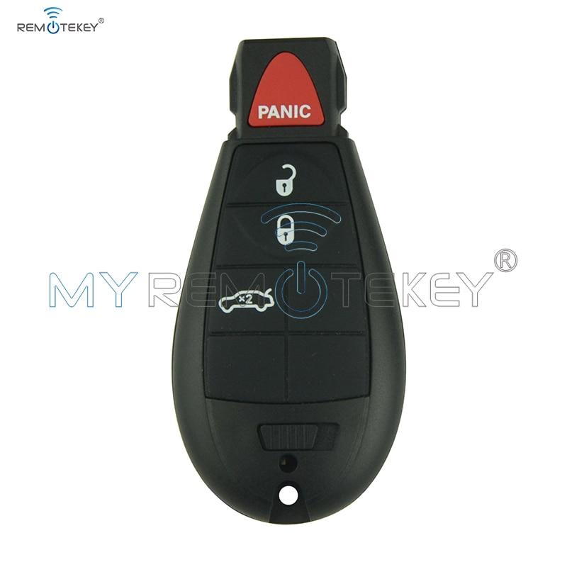 Remtekey Smart Schlüssel Fobik 6 Taste Mit Panik Für Dodge Schlüssel 434 Mhz #2 IYZ-C01C Neue Stil Auto Schlüssel #2 Fobik Schlüssel Auto