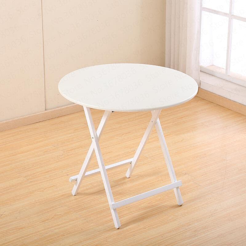 0% طاولة قابلة للطي طاولة المنزل بسيطة في الهواء الطلق كشك الجدول شقة صغيرة أرز مستدير شرفة صغيرة محمولة طاولة طعام