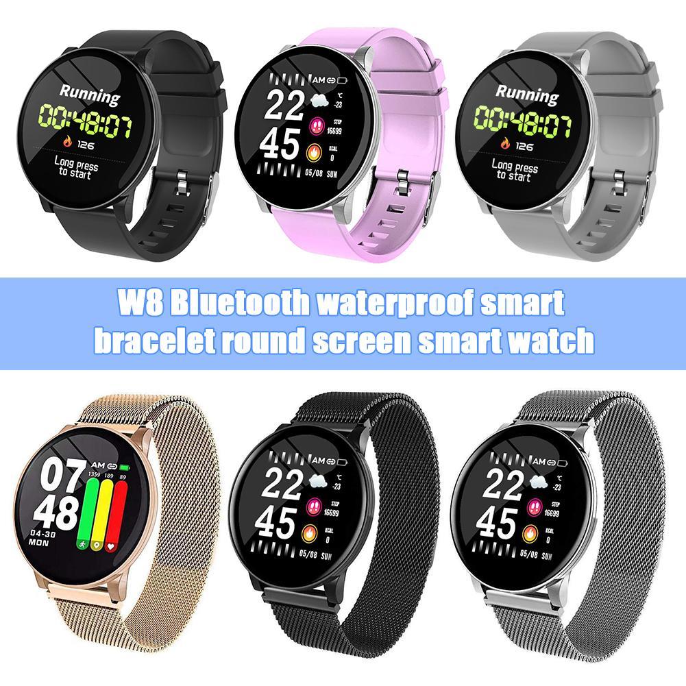 Reloj inteligente Bluetooth pantalla LCD de 1,3 pulgadas recordatorio de llamada Fitness IP67 impermeable Monitor de ritmo cardíaco pulsera de reloj inteligente deportivo