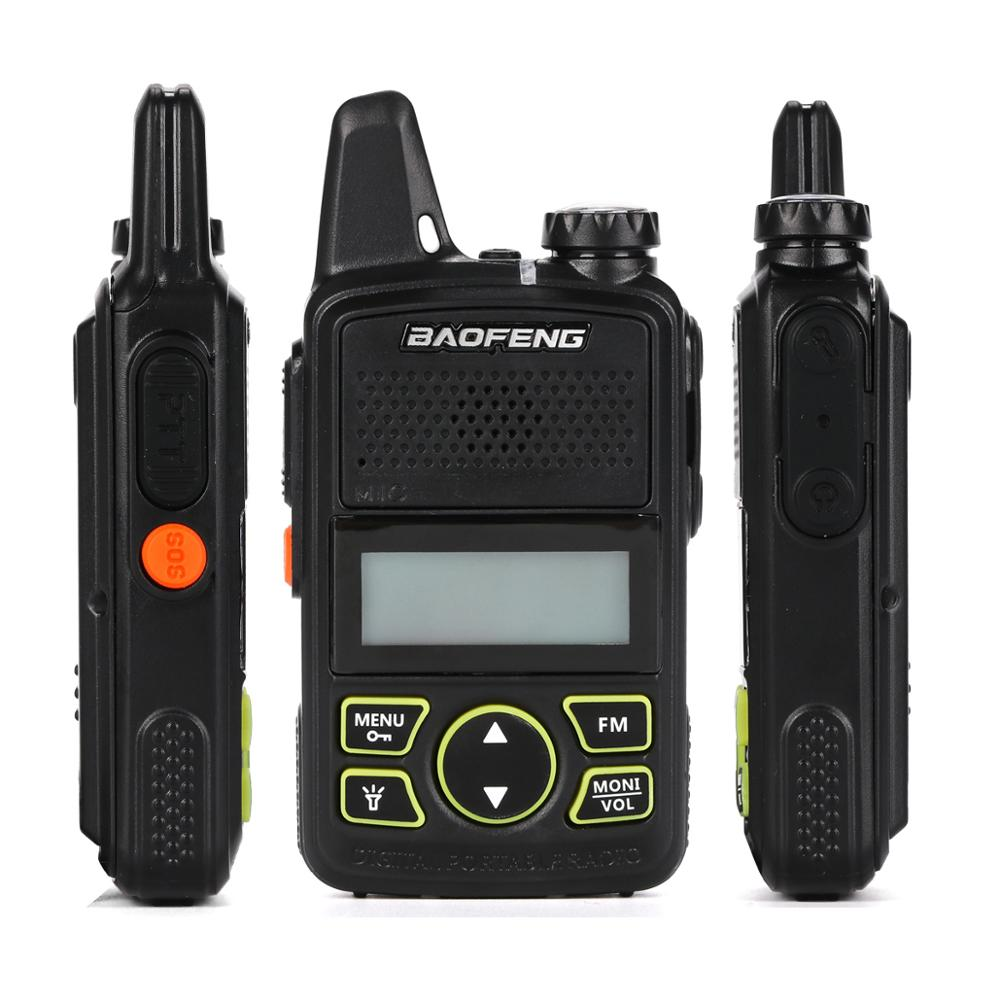 2pcs/lot BF-T1 Original Baofeng Mini Walkie Talkie Two Way Radio Portable Security Guard Device UHF 400-470 MHz FM Transceiver