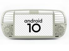 Car Android 10 Player Per Fiat 500 GPS di Navigazione DSP USB Aux stereo bluetooth Wifi di rete Testa unità 1din automotivo multimedia