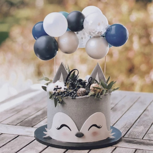 10pcs Balloon Cake Topper Cloud Shape Confetti Balloon Birthday Party Dessert Decoration Baby Shower Wedding Decor Cake supplies 6