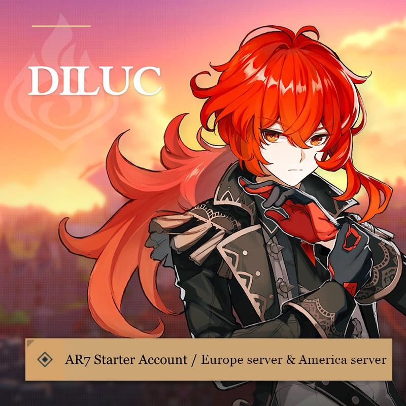 Ganyu America Europe Asia Genshin Impact Keqing Diluc QiQi Klee Venti Mona Starter Account 1 Random 5-Star Character