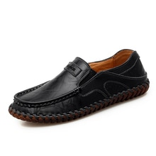 Brand Genuine Leather Men Shoes Fashion Casual Shoes Breathable Men Flats Loafers Men's Driving Shoe