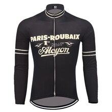 PARIS-ROUBAIX kış polar ve hiçbir polar bisiklet forması uzun kollu arka bisiklet giyim rüzgar geçirmez mtb bisiklet kıyafetleri
