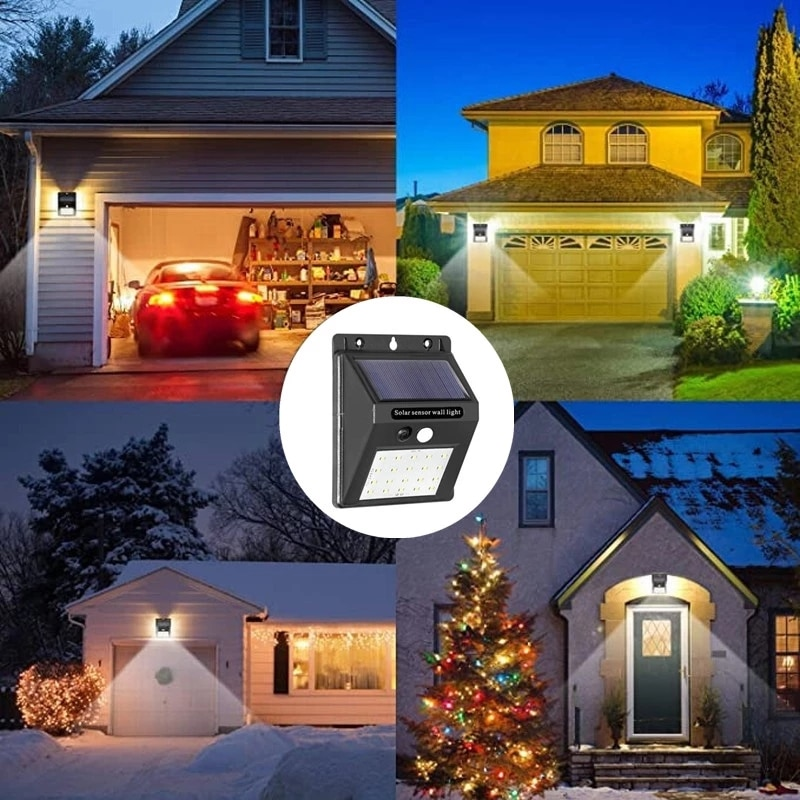 Solar Lights Outdoor LED Motion Sensor Activated Separable Light for Garden Security Waterproof Wireless Wall Lamp Garden Lights