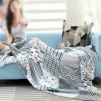 100 cotton muslin summer blanket bed sofa travel breathable chic mandala large soft throw blanket para blanket
