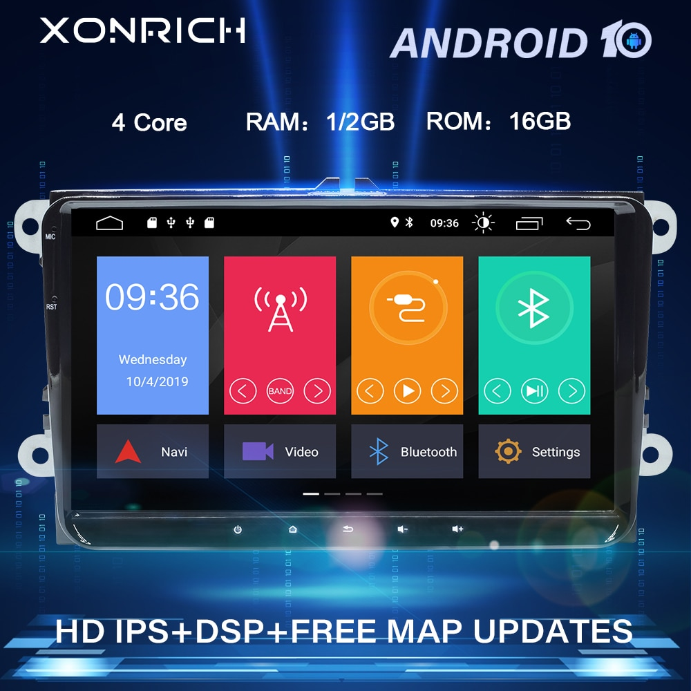 2 Din Android 10 Автомобильный GPS навигатор для фольксагена VW Passat B6 T5 golf 5 6 Skoda Octavia 2 Amarok jetta polo Мультимедиа Радио