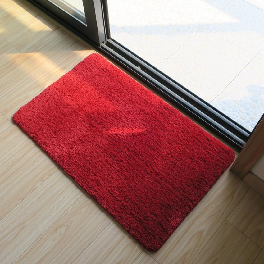 Sólido baño alfombra adsorción de agua de baño de felpudo piso Carpe Badmat Tapetes Puerta de baño alfombra, tapete de baño q