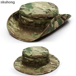 Camouflage Fishing Cap Sunshade Sun Visors Bucket Tactical Hat Outdoor Sports Camping Hunting Hiking Wide Brim Bonnie Caps