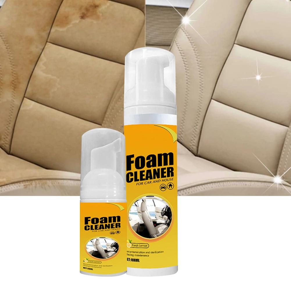 30/100 мл пеноочиститель для автомобильного интерьера, кожаный очиститель для интерьера автомобиля, пеноочиститель для автомобильного сиден...