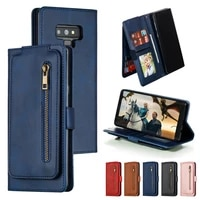 luxury leather flip case for samsung galaxy s10 s9 s8 plus s10 lite s7 edge note 10 pro 9 8 10 puls wallet stand phone cover