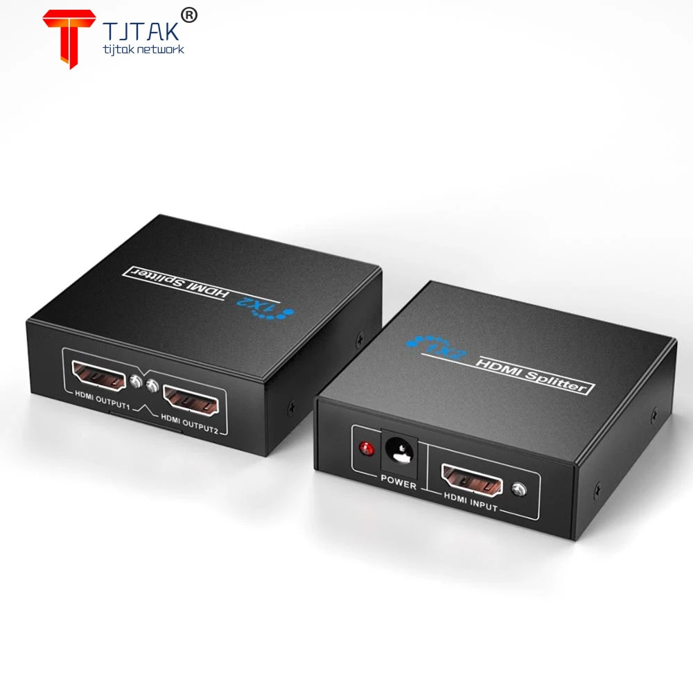 HDMI 1 in 2 out 2K*4K 1x2 HDCP Stripper Signal Amplifier HDMI Splitter Switch 1 Input 2 Output 4K HDMI Switcher for PC Laptop