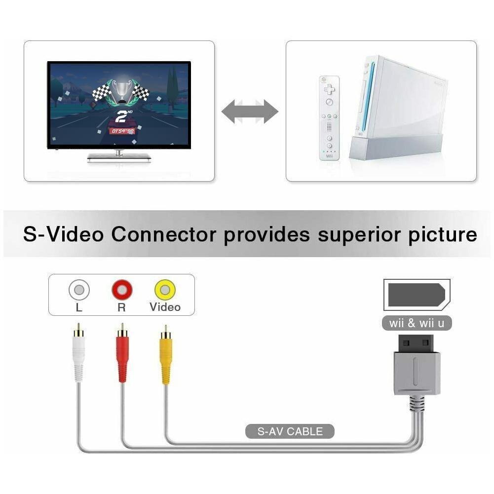 1,8 M Cable AV para WII Mini WII/consolas WII U   WII...