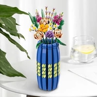 2021 new moc diy colorfull vase bricks models decoration building blocks assemble kids childrens toys gifts