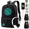 Sac à dos d'école en toile avec chargeur USB pour garçons et filles avec fonctions antivol pour la rentrée scolaire 2020