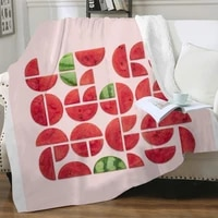 nknk watermelon blanket art thin quilt cute plush throw blanket street blankets for beds sherpa blanket fashion high quality