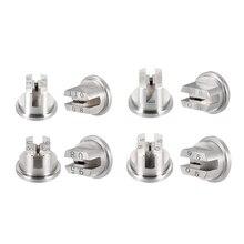 Uxcell Uxcell 2 pièces embout de pulvérisation de ventilateur plat, buse en acier inoxydable de 65/95/110 degrés, (diamètre dorifice 1.1/1.4/1.8/2mm)