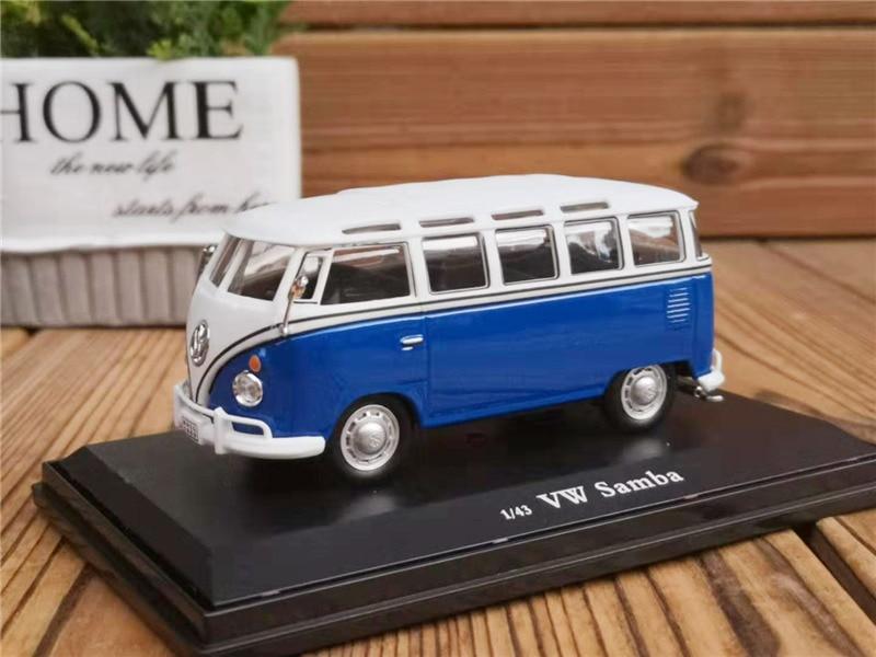 ¡Éxito de ventas! Modelo de aleación de autobús original 143 VW samba T1, modelo de coche de metal fundido a presión de alta simulación, colecta regalos, envío gratis