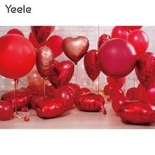 Yeele amour coeur Ballon bébé fête danniversaire photographie toile de fond arrière-plans de décoration photographique pour Studio Photo
