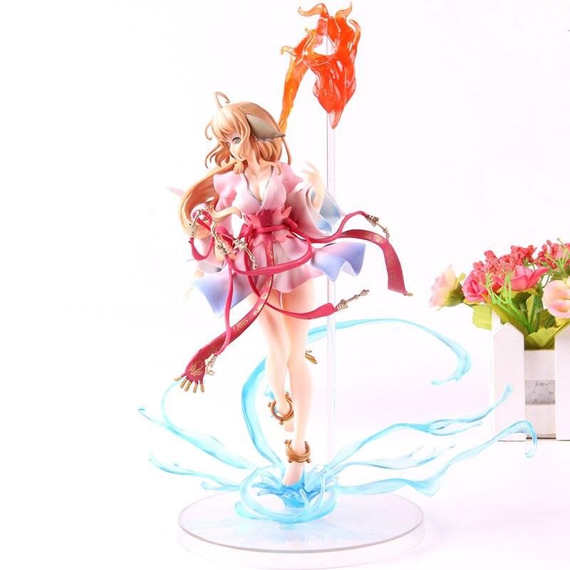 Animación Tushan Honghong espíritu de zorro casamentera PVC colección modelo de juguete Anime hecho a mano juguete 1/8 escala figura de acción