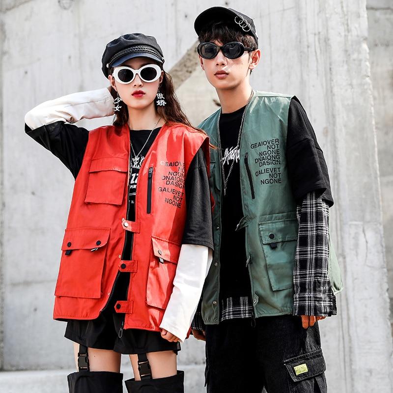 2019 Winter New Trend Retro Men's Couple Tooling Street Loose Lapel Tide Brand Casual Harajuku Denim Vest
