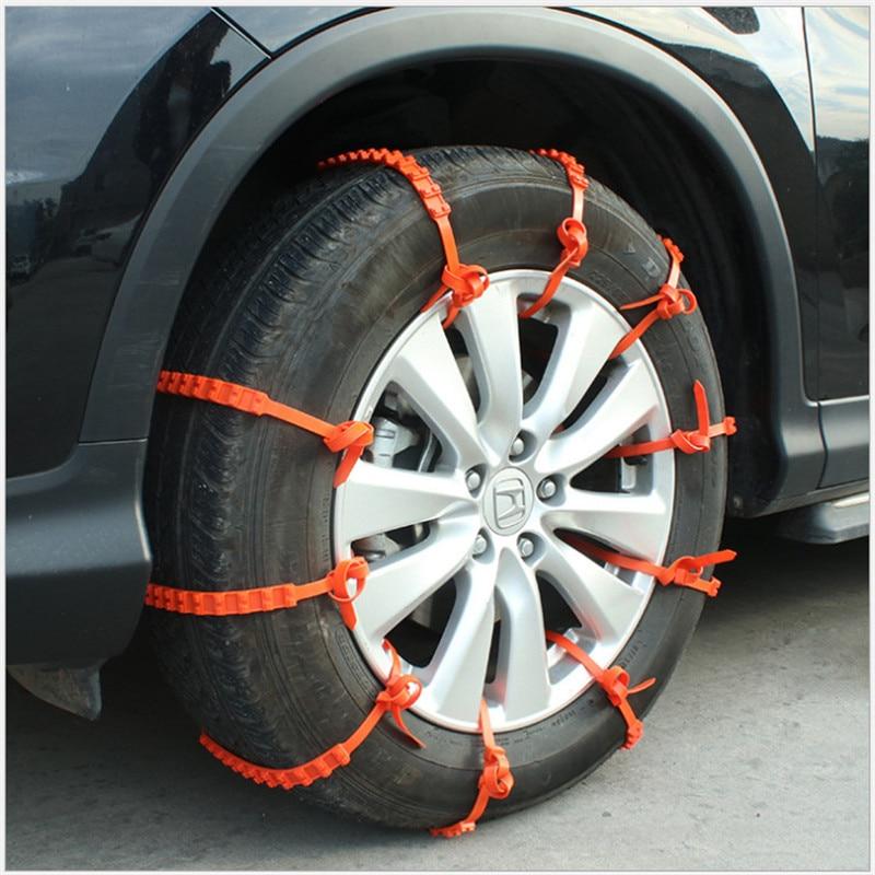 92cm car truck slip mud universal nylon chain chain nylon mud wheel tire tire cable fastener 10 piece set