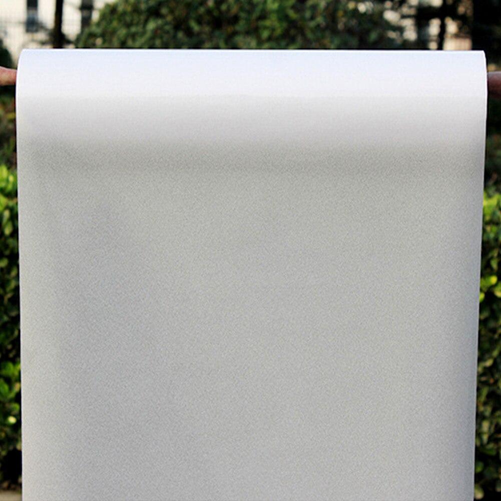 200/300/400/500CM x 60CM película de ventana sólida esmerilada de PVC para el hogar Baño, oficina, baño, puerta ventana de cristal pegatina de privacidad paster