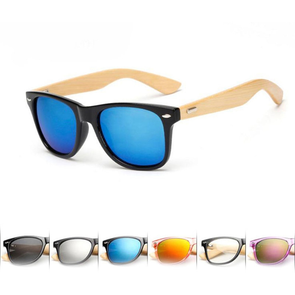 Wood Sunglasses Men Women Square Bamboo Women For Women Men Mirror Sun Glasses Retro De Sol Masculin