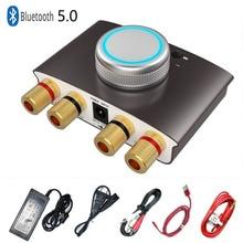 بلوتوث صغير 5.0 مضخم رقمي Hifi ستيريو المنزل الصوت الطاقة أمبير 50 واط + 50 واط AUX/USB ل سماعة الرأس PC TV مشغل أقراص مضغوطة