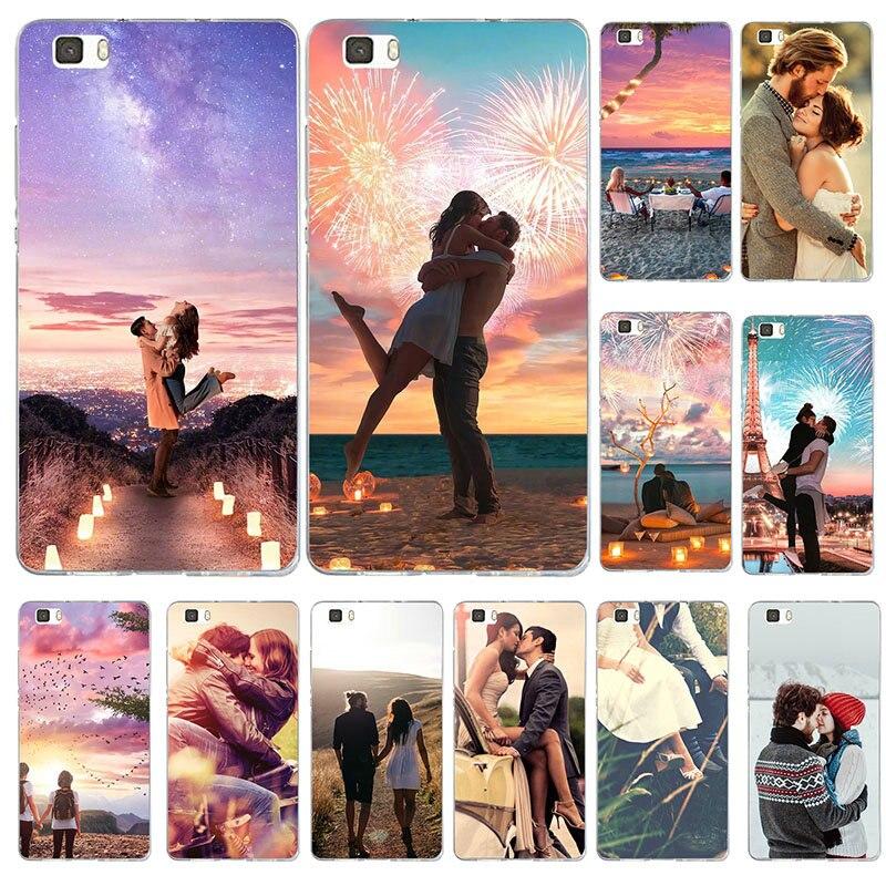Fundas suaves para Huawei Honor 6 6A 6C 6X7 7A 7C 7X8 8A 8C 8S 8X9 10 20 Lite Pro pareja beso amor hombre mujer Grunge
