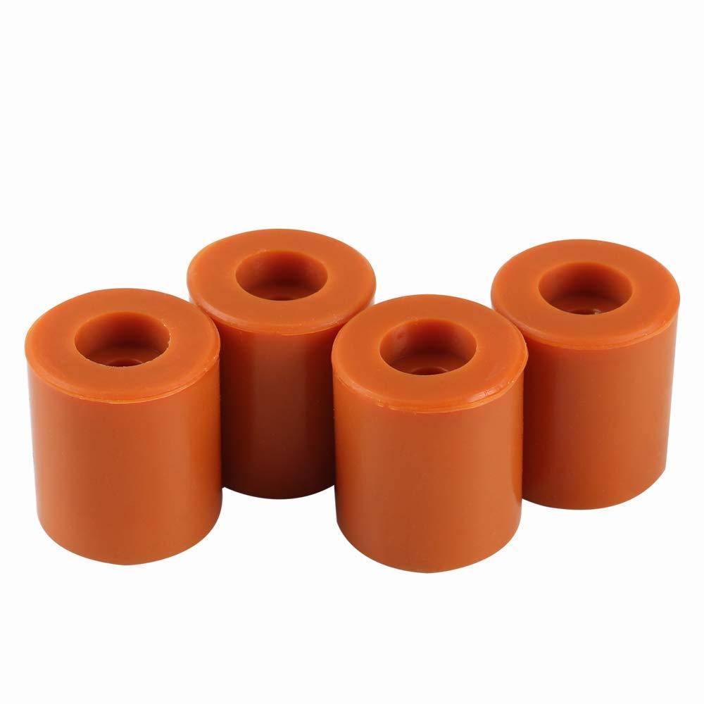Columna de nivelación de silicona Heatbed de 4 Uds. Soportes de cama caliente para impresora 3D amortiguador estable resistente al calor para Prusa I3 Anet A8 Wanhao D9 Mega