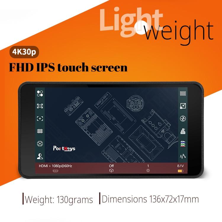 Portkeys PT5 جهاز المراقبة الميدانية ل DSLR كاميرا 5 بوصة شاشة تعمل باللمس ثلاثية الأبعاد لوت HDMI متوافق 4K رصد VS Portkeys P6 ترقية الإصدار