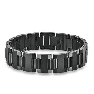 Koaem Modern Fashion Motorcycle Chain Bracelet Stunning Solid Tungsten Black Chains For Men