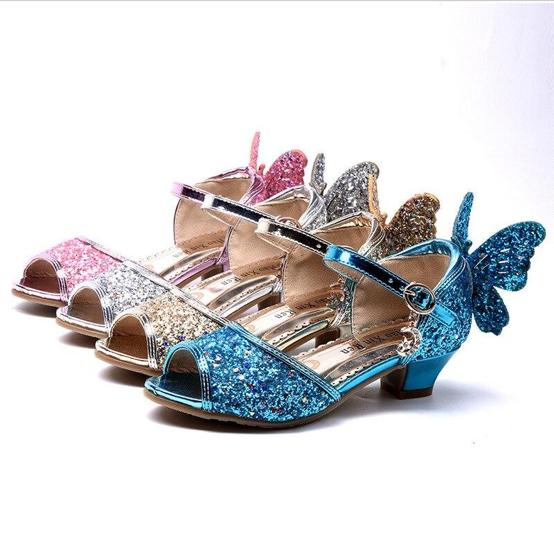 NEW Girls Children Princess Flower Fashion Kids Pink School Wedding Dance Shoes