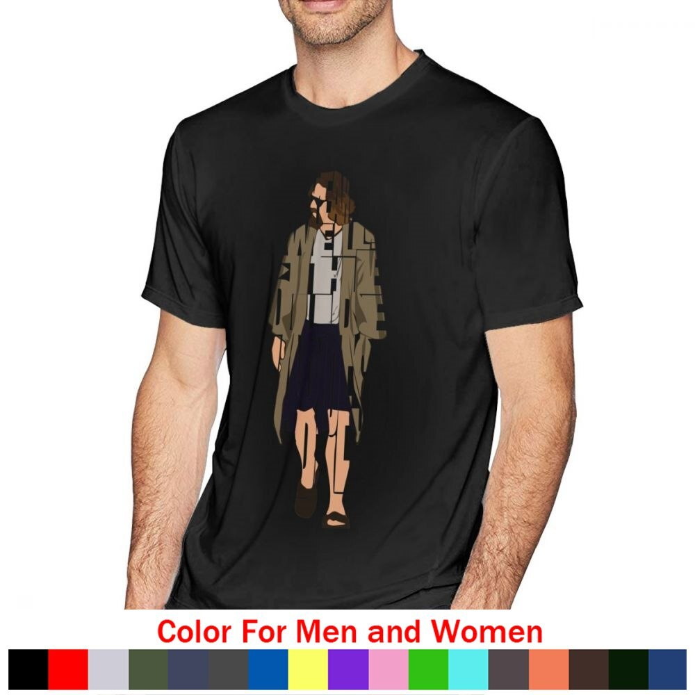 El gran Lebowski camiseta T camisa grande camiseta de Lebowski 100% Camiseta de algodón camiseta impresa de manga corta de hombre Casual camiseta Streetwear