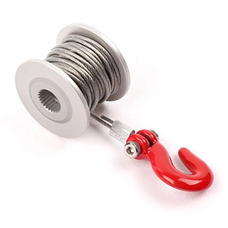 25t engrenagem de direção servo guincho roda para 1/10 rc rastreador carro trx4 rc4wd d90 d110 axial scx10 90046