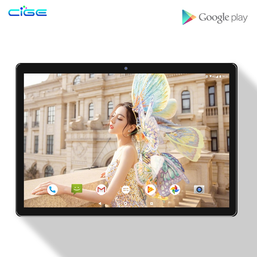 Super Fast 10 Inch Tablet 10 Core 6GB RAM 128GB ROM 1920x1200 FHD 4G LTE Android 8.0 2.4G 5G WiFi With Bluetooth Keyboard