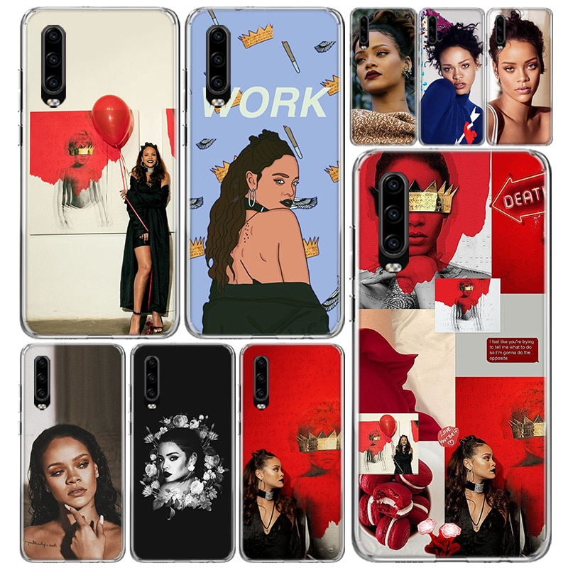 Rihanna cubierta de la caja del teléfono para Huawei P40 P30 P20 P10 amigo 20 10 30 P smart Z + Pro Plus Lite de Coque de Capa