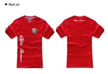 Good short sleeves cotton tops cool t shirt summer jersey costume Alfa Romeo logo t shirt