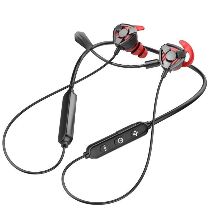 Bt-66 E-الرياضة لعبة اللاسلكية شنقا الرقبة سماعة غير تأخير بلوتوث 5.0 سماعة موقف الاعتراف CVC8.0 ANC سماعات