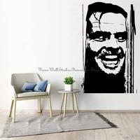 Autocollants muraux de Portrait de film dhorreur  adhesifs muraux en vinyle pour amoureux de cinema  maison  salon  porte  fenetre  decoration  3