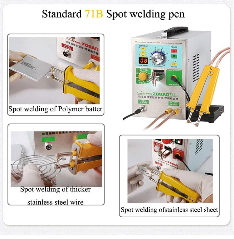 SUNKKO 709AD+ 4 IN 1 Welding machine fixed pulse welding constant temperature soldering Triggered induction spot HB-71B