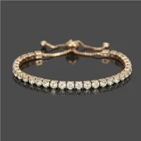european and american fashion light luxury micro zircon bracelet couples simple adjustable hand accessories