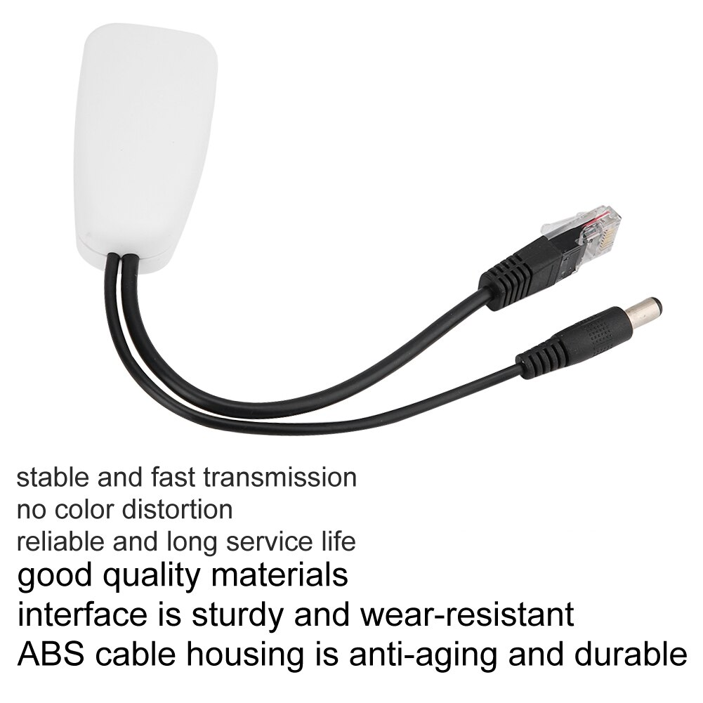 70V To 12V Connectors Adapter Cable Splitter Injector Power Supply Data Transmission POE Splitter For IP Camera IP Phone enlarge