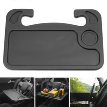 Car Steering Wheel Work Food Tray Desk Mount Stand Portable Laptop Holder Auto Accessories Cup Holde