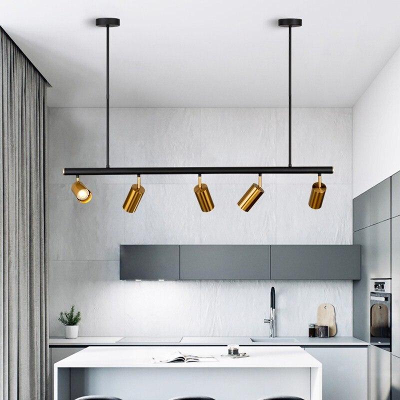 Lámpara colgante nórdica de cobre y latón, lámpara colgante moderna dorada LED, lámpara colgante moderna de proyección para dormitorio, comedor, decoración moderna, accesorio de iluminación