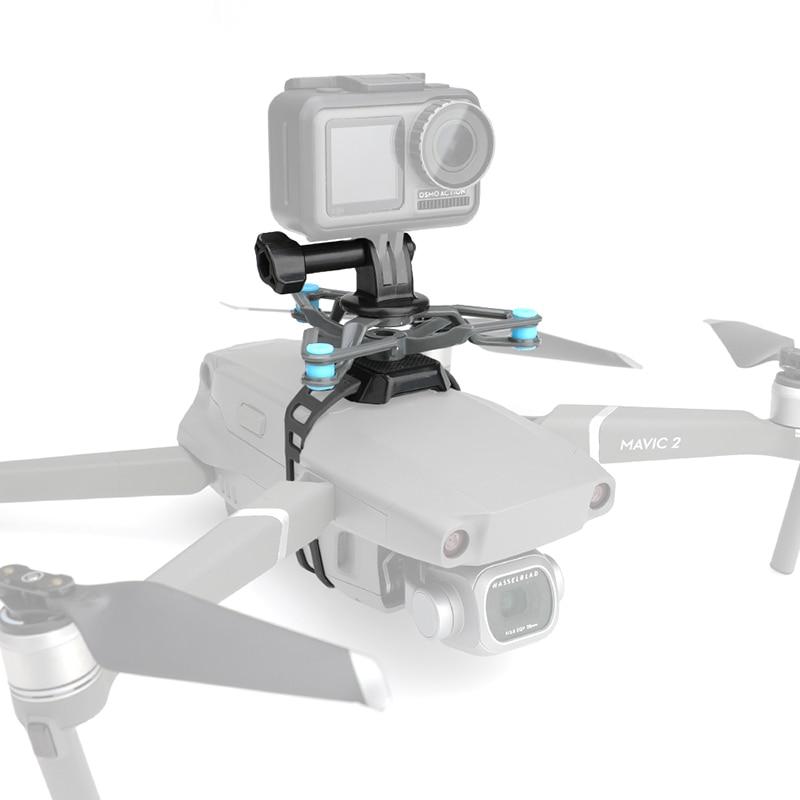para Goproosmo Acrtion Suporte com Absorção de Choque Placa de Amortecimento para Dji Câmera Estender Mavic – 2 Drone ar 2s
