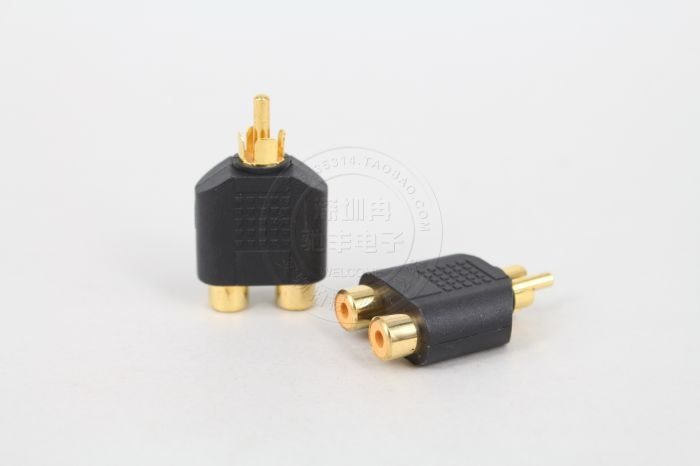 AV RCA Splitter Y Lotus Audio Video Plug Converter 1 Male to 2 Female Adapter Kit Color AV Jack RCA Plug To Double